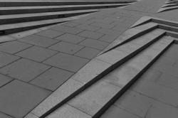 Sidewalk and steps.